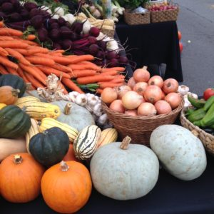 Our table at Farmers Market